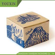 hand-painted style custom logo printed packaging kraft paper box for handmade candle
