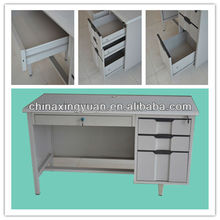Cold rolled steel frame single durable office study drawer desk