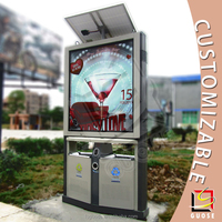 Customized aluminum outdoor advertising trash can