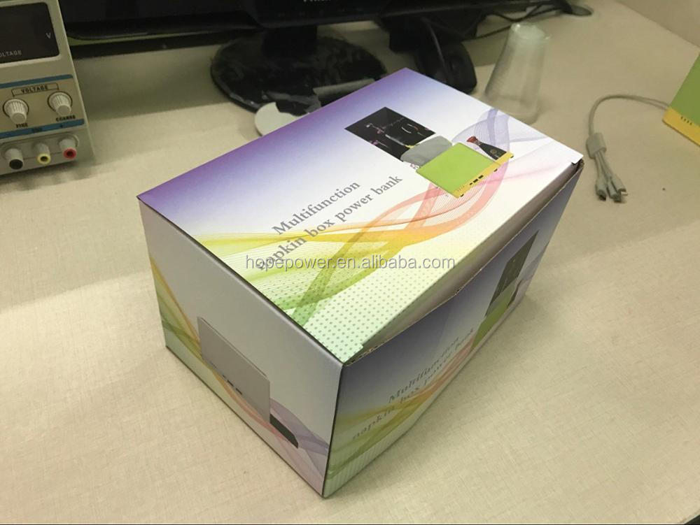 new product tissue box holders type-c usb mutifunction power bank 6000-20000amh
