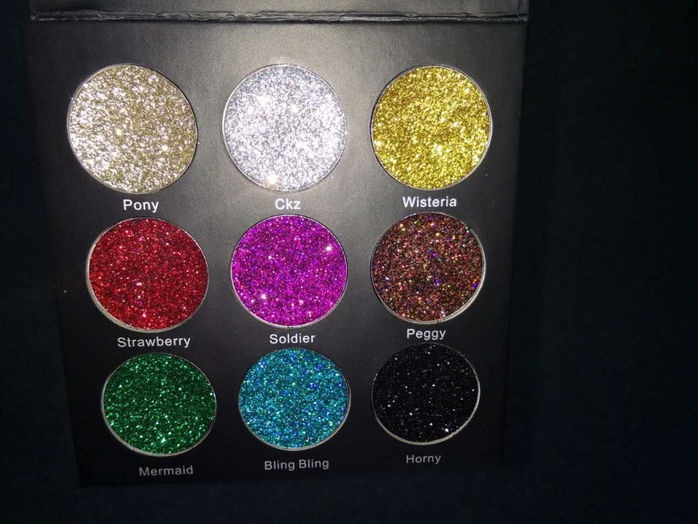 9 colors Shimmer Eyeshadow Powder Private Label Make Up Palette Cosmetic