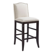 Factory direct wooden bar stool chair counter stool rivet tufted