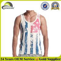 Custom100 Cotton Men Burnout Tank Top
