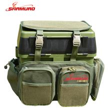 Wholesale Multi-functional Big Capacity nylon mesh Tackle Backpack bag for Fishing Toolbox