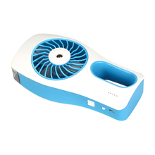 Mini Handheld USB Misting Fan with Personal Cooling Mist Humidifier Rechargeable Portable Fan