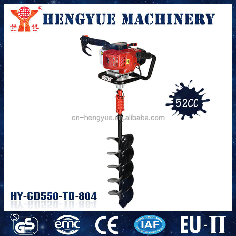 manual earth auger digging hole machine auger for earth drilling