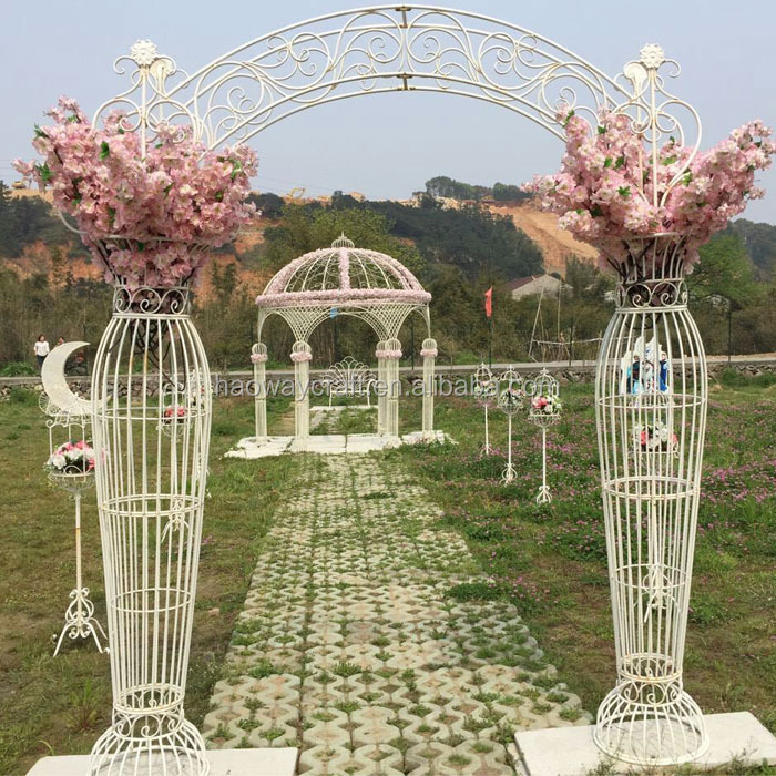 Wholesale hot selling wedding stage decoration with flowers flower wedding arch