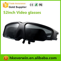 Virtual Cinema Digital Video Eyewear Glasses 52inch Screen 60g Detachable