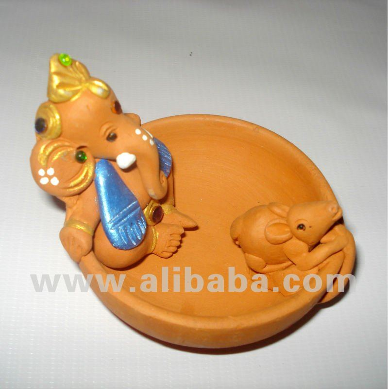 Lord Ganesha - Riding a Round Boat