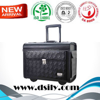 New Design Synthetic Leather Trolley Pilot Case