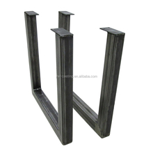 China Manufacture Furniture Leg Type and Iron Metal Type U Shape Table Legs For Garden Decoration