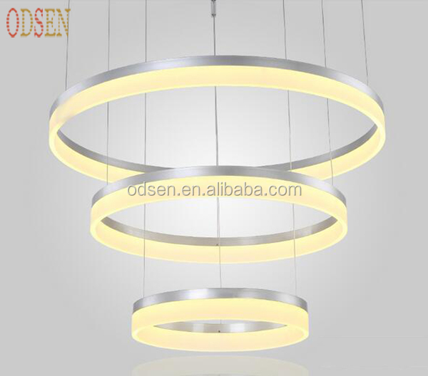 Modern Simple Living Room Hanging Decorative Cycle ring acrylic LED Indoor pendant <strong>Light</strong>