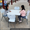 outdoor plastic coffee dining square folding table garden furniture