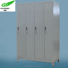 China high quality modern steel simple design bedroom 4 door almirah/chest/wardrobe