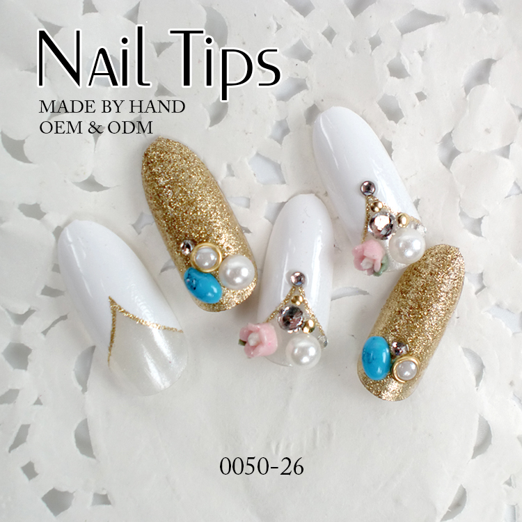 Decorative Fingernails 24pcs False Pre Design Nail Tips Nails Decorated Artificial Product On Alibaba