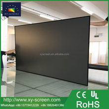 XYSCREEN slim fixed frame daylight screens ambient light rejection projector screen fabric