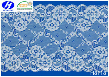 Wholesale good quality low price Spandex Nylon elastic lace fabric 3d flower