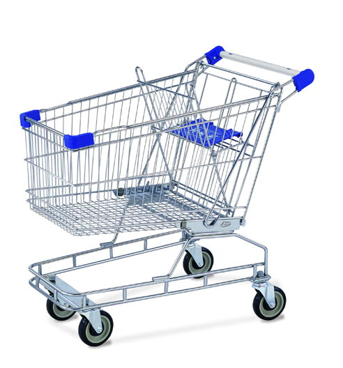 Supermarket big wheel shopping trolleys(RHB-125A)