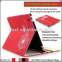 2012 Hot Dandelion shape smart leather case cover for ipad 3