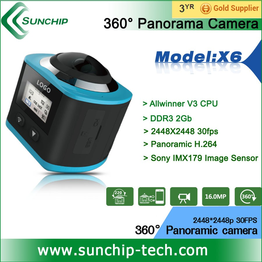 Panoramic 4K HD Action Video 360 Camera 220 fisheye lens 360 degree wifi extreme sports underwater action camera
