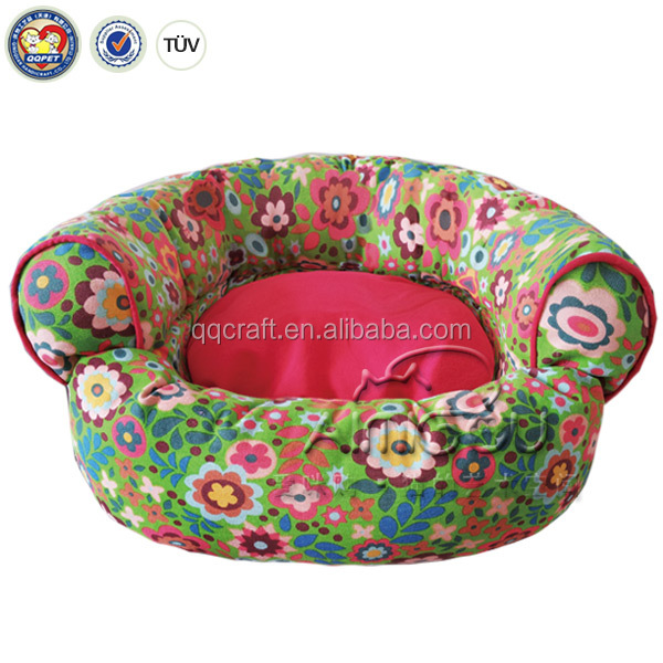 QQPET Christmas promotion flower shaped cat bed