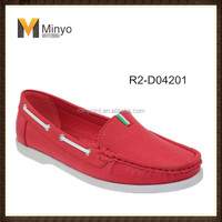 Minyo red woman casual Loafer shoes made in china wholesale