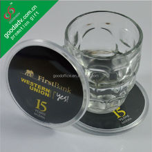 new style clear acrylic tea coaster with insert picture