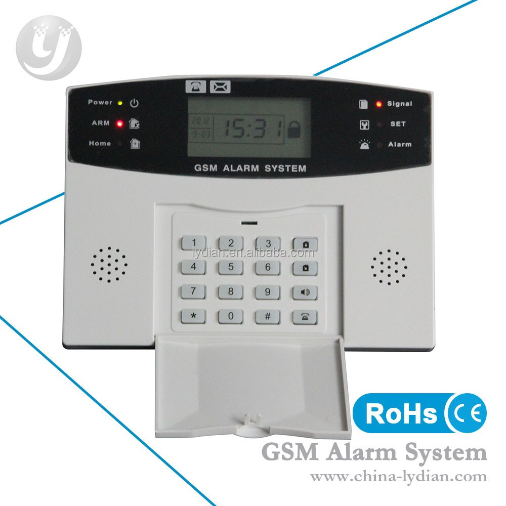 Smart home touch screen gsm alarm system