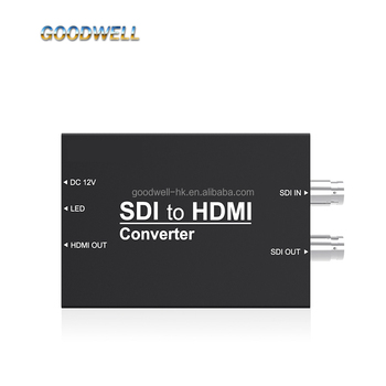 Portable Mini HD/SD-SDI to HDMI Video Converter for Down-Stream Equipment