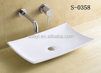 shallow size table top ceramic bathroom wash basin sink