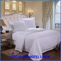 100% cotton white wholesale commercial bed linen