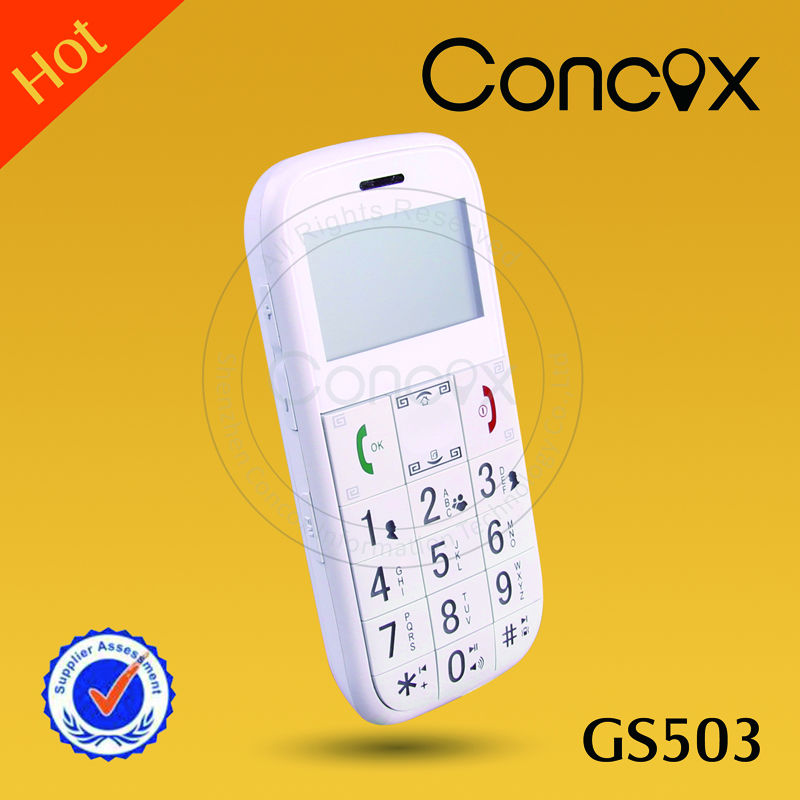 Concox senior gsm easy mobile phone GS503