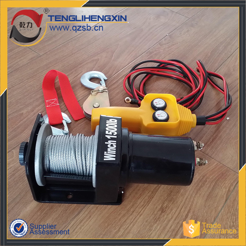 high speed small portable atv capstan electric engine 12 volt winch