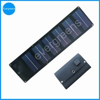 6W flexible and folding amorphours solar energy mobile charger