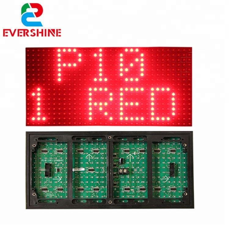 Evershine <strong>p10</strong> <strong>1r</strong> red tupe outdoor single color led module for advertising led display screen price