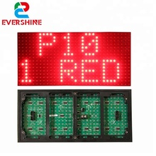Evershine <strong>p10</strong> <strong>1r</strong> red tupe outdoor single color <strong>led</strong> <strong>module</strong> for advertising <strong>led</strong> display screen price