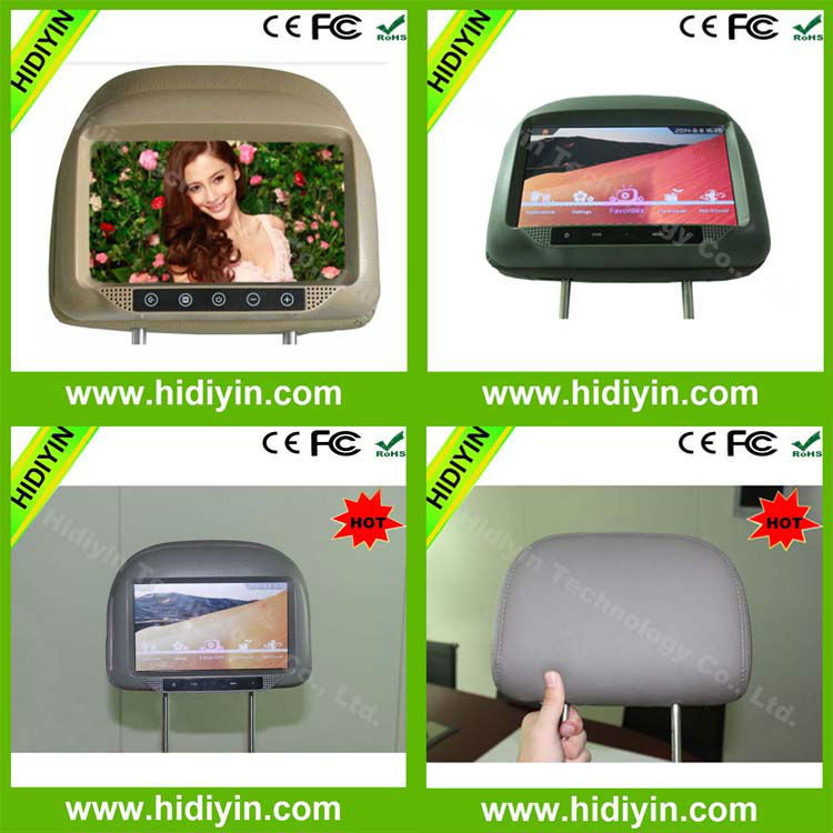 "9""taxi video car monitor advertising player wifi tv smart box android headrest monitor smart tv remote display mp3"