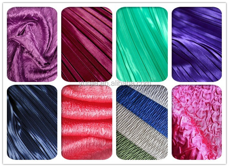Cheap Polyester Crushed Satin Fabric/Shiny Polyester Satin