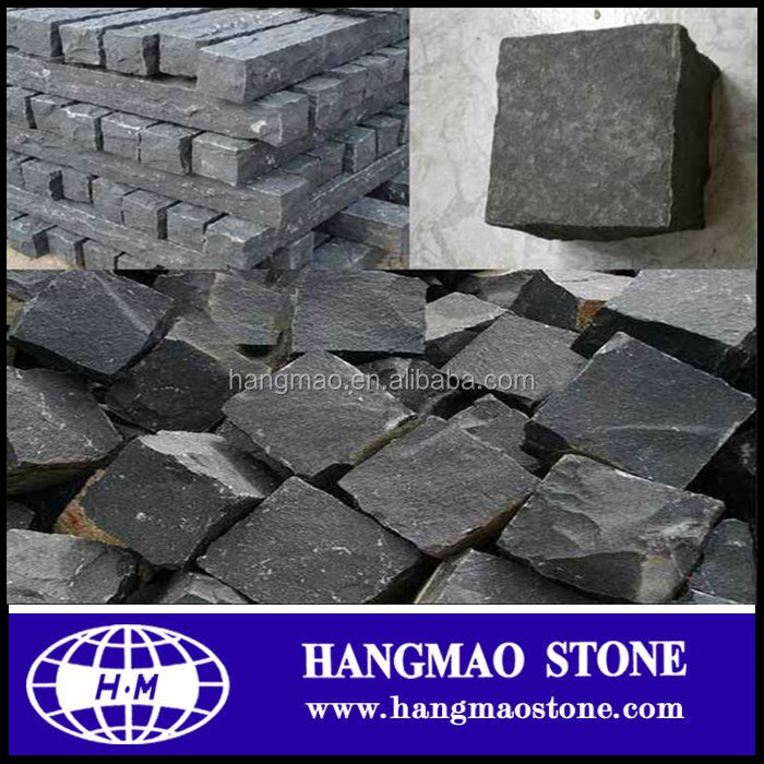 Hot Sale Black Basalt Cubes Paving Stone /Basalt Brick And Pavers For Driverway