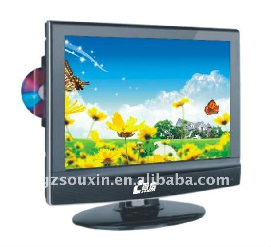 15 inch LCD/LED TV with built-in DVD player for home/hotel/project use