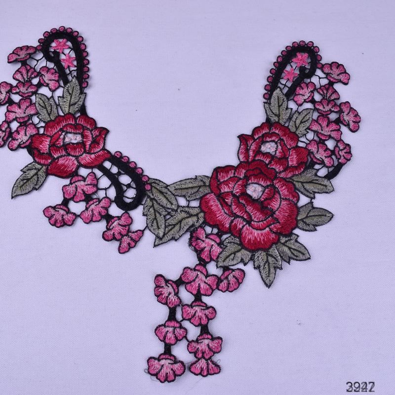 new design machine embroidery lace collar