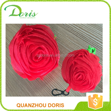 wholesale rose shaped drawstring chrismas shopping gift bags
