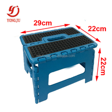 Plastic folding step stool with Non-slip TPR surface
