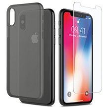 Ultra Thin Phone Case for iPhone X Solid Color Mobile Phone Case Transparent PP Back Cover Case for iPhone X