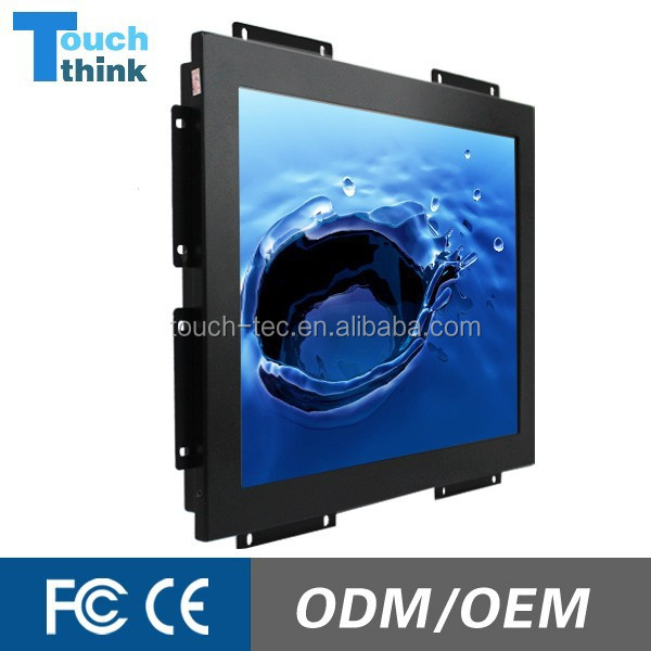 VGA DVI Input 19 Inch Touch Screen Monitor Open Frame
