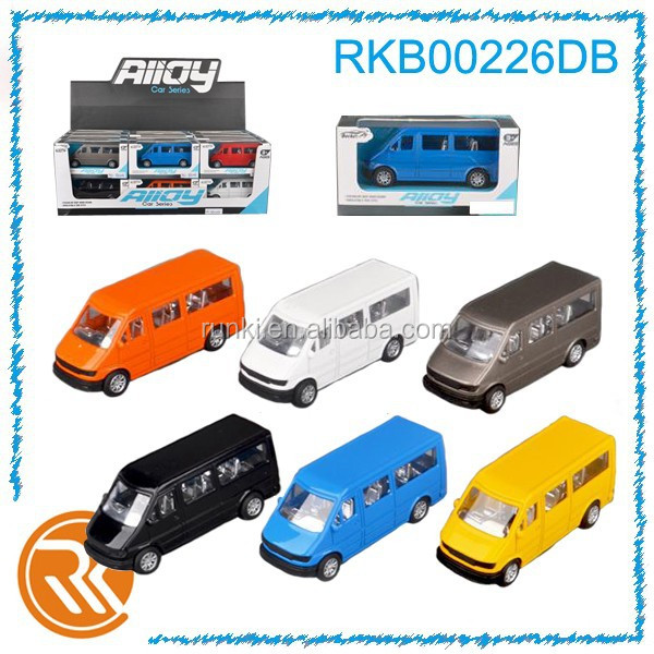 Hot mini metal toys cars pull back van