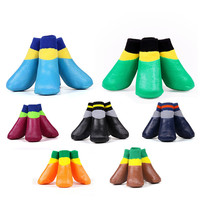Wholesale Colourful Waterproof Pet Shoe Socks For Dogs Cats
