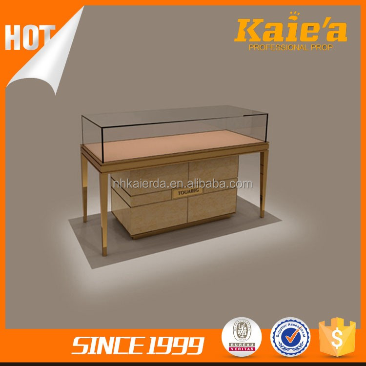 Hot sale glass jewelry display showcase ,display counter for jewelry