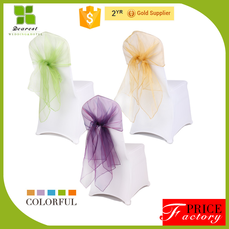 2016 New cheap wedding organza sash for chair covers made in China
