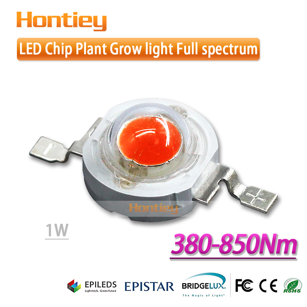 Epistar high power LED diode 1w full spectrum 30mil for a special purpose of nurseries/sunlight greenhouse/trellis/glasshouse